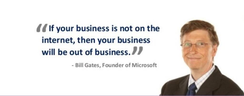 Billgates quote about online marketing