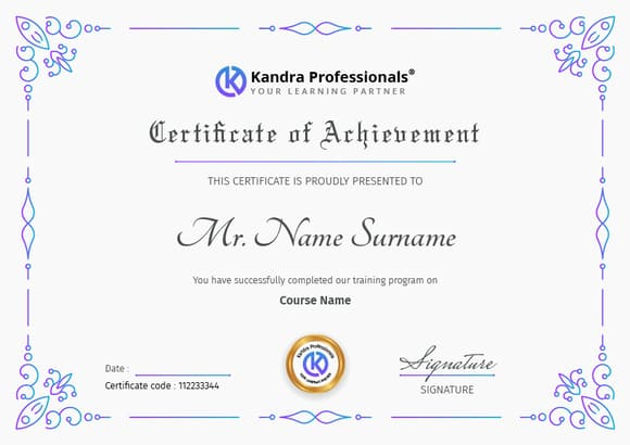 Interactive learning experience & Certificate
